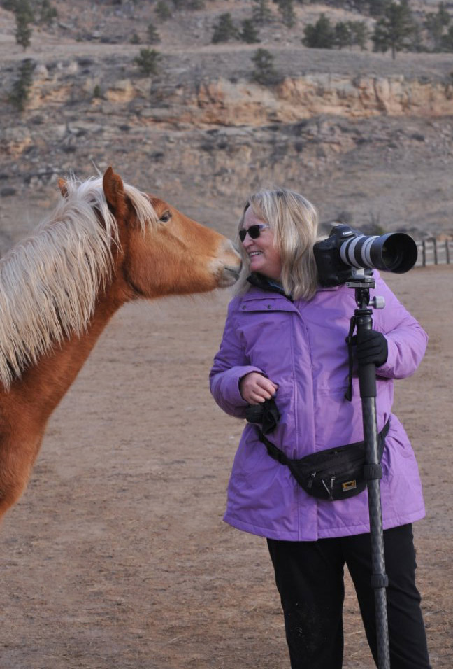 Aurora's filly and I, photo by Susan Watt