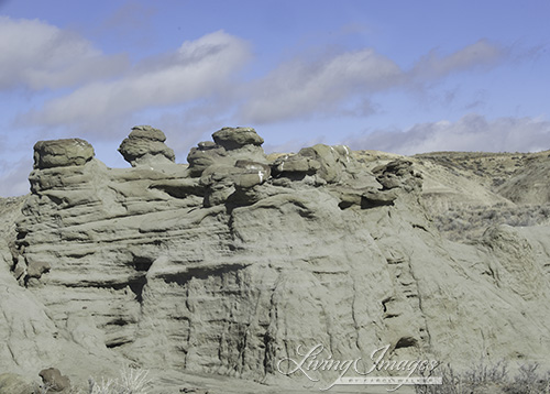 Rock formations in Adobe Town